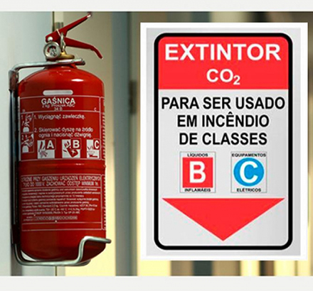 Placa Extintor Co2