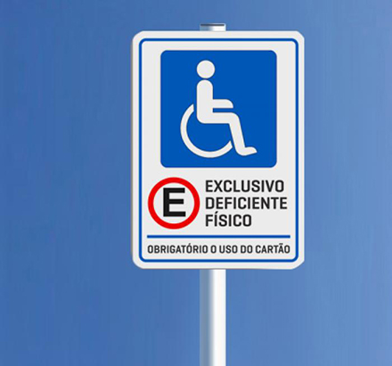 Placa Exclusivo Deficiente Físico